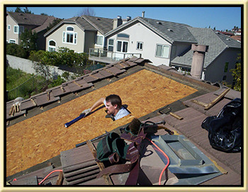 photo of a tile roof leak detection service we did for a customer located in portola hills